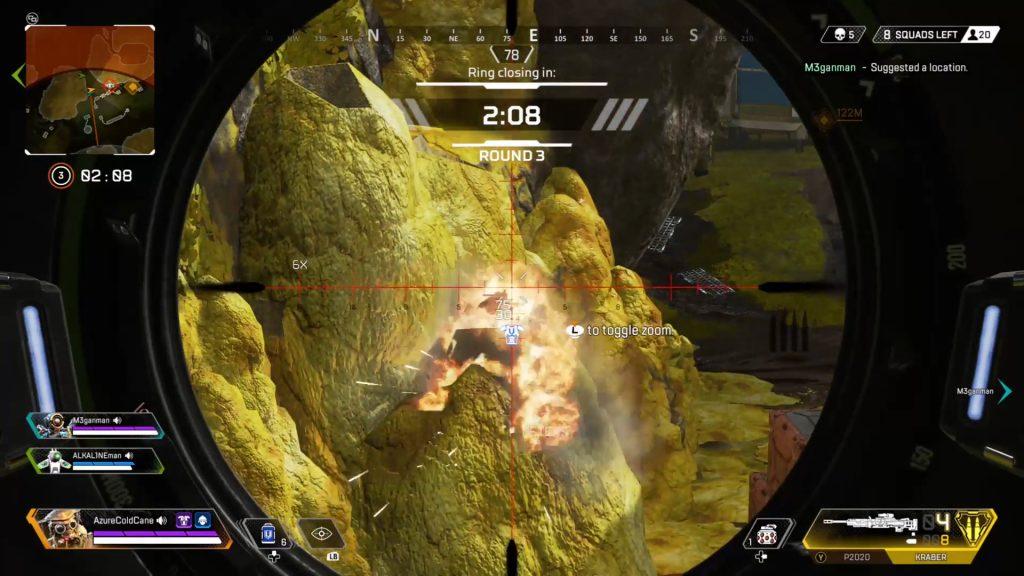 【APEX】岩の中に潜んでいる敵の倒し方が面白すぎるwww(エペ速)