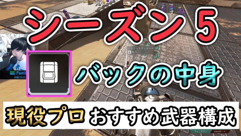【Apex まとめ】エーペックスSeason5の武器とバック構成について!!【初心者・中級者向け】(えぺタイムズ)