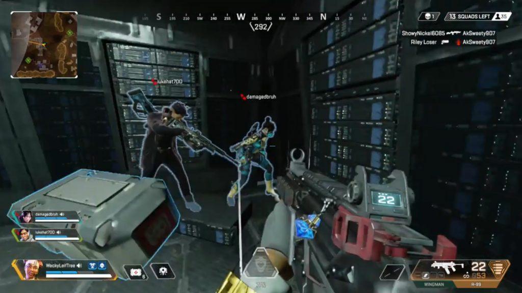 【APEX】レイスの研究施設内にあるサーバールームの角で落ちている武器を見るとゲームがクラッシュしてしまうバグが発見される(エペ速)