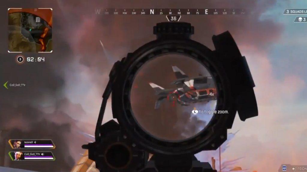 【APEX】リスポーンシップから落ちてきた敵をセンチネルでリスキルwww(エペ速)