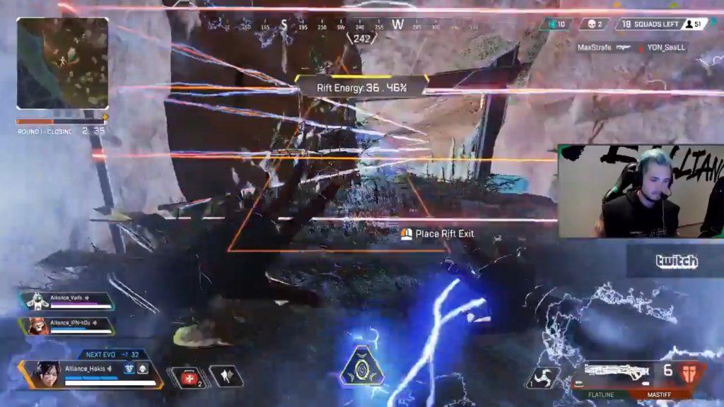 【APEX】EMPドローンで動きが遅くなった敵を「パンチ」でポータルに無理やり入れるゴリ押し戦法(エペ速)