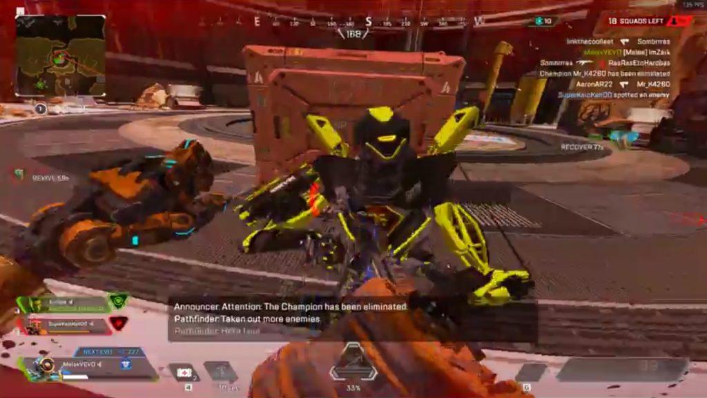 【APEX】パスファインダーがパンチだけで敵部隊を壊滅させる動画(エペ速)