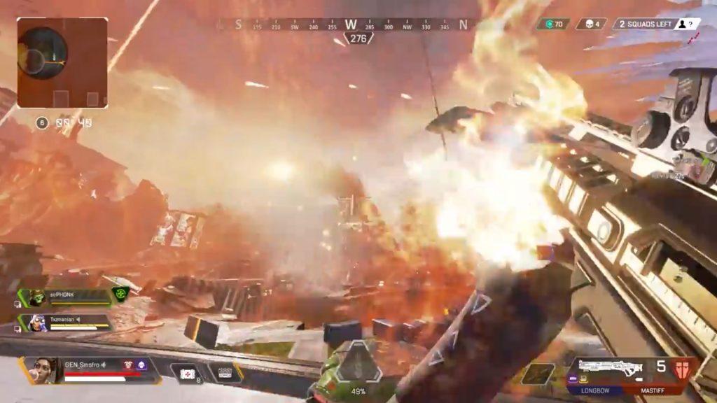 【APEX】バグったマスティフを持ちながらトリックショットで最後の敵を倒すランパート(エペ速)