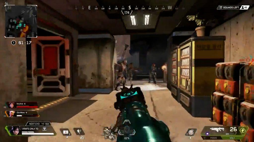 【APEX】敵部隊3人が固まっている所を真横からボルトSMGで美味しく頂くレイス