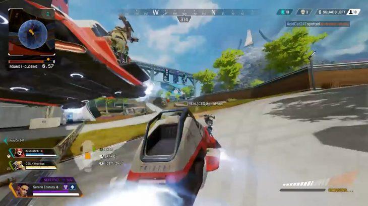【APEX】「トライデント」で突っ込んできた敵チームを「トライデント」でぶっ飛ばしてみたwww