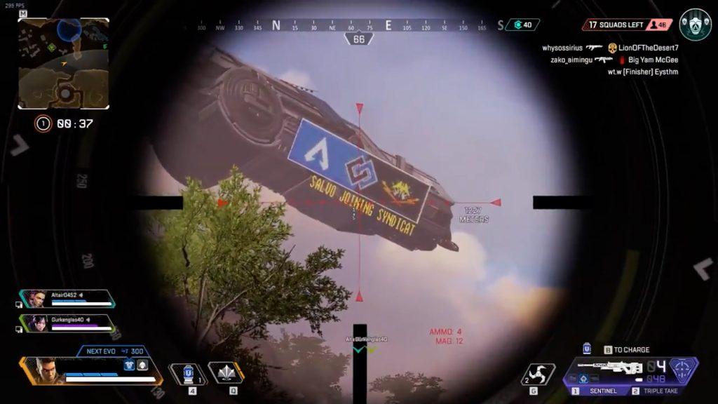 【APEX】キングスキャニオンの上空に「謎の船」が飛んでいる模様!!