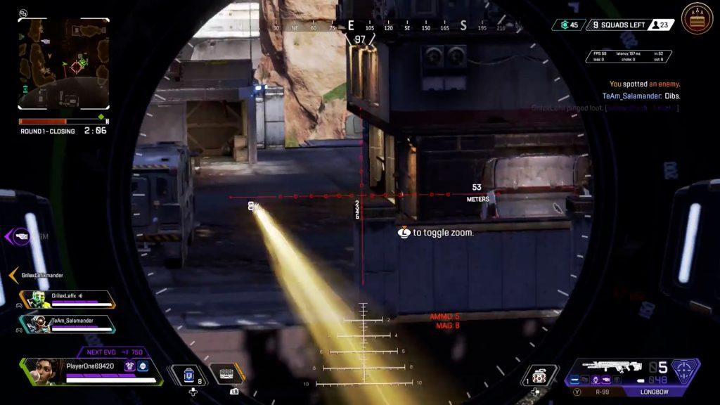 【APEX】ロングボウの弾丸が真っ直ぐ飛ばないバグ動画