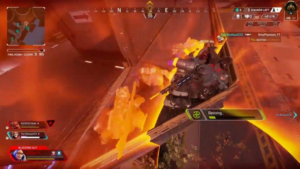 【APEX】ノックダウンしたプレイヤーが一箇所に集まるカオスな状況