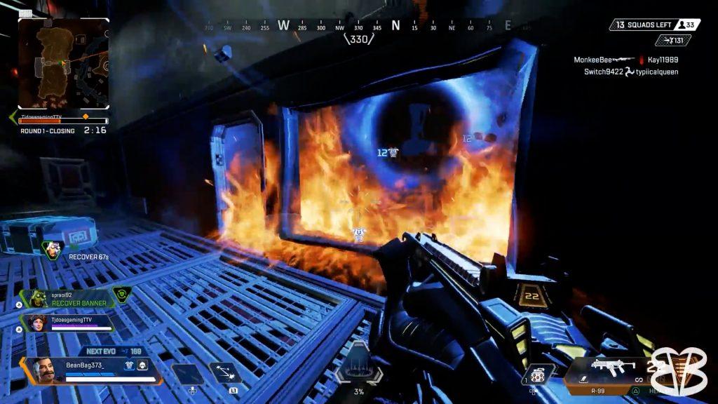【APEX】バンカー部屋に入った敵部隊を焼き肉にする「ヒューズ」