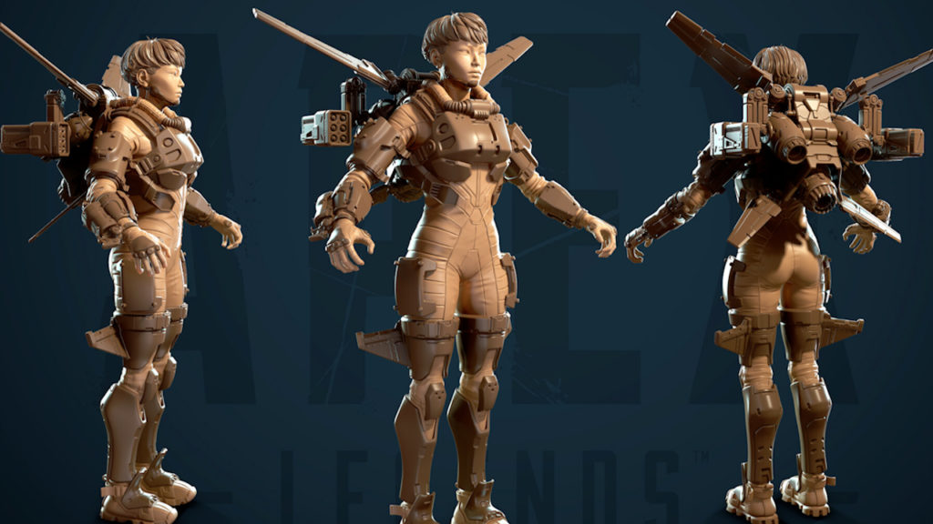 【APEX】「ヴァルキリー」のキャラクターアーティストさんが『ヴァルキリー』や『ミサイル』などの3Dモデルを公開!!