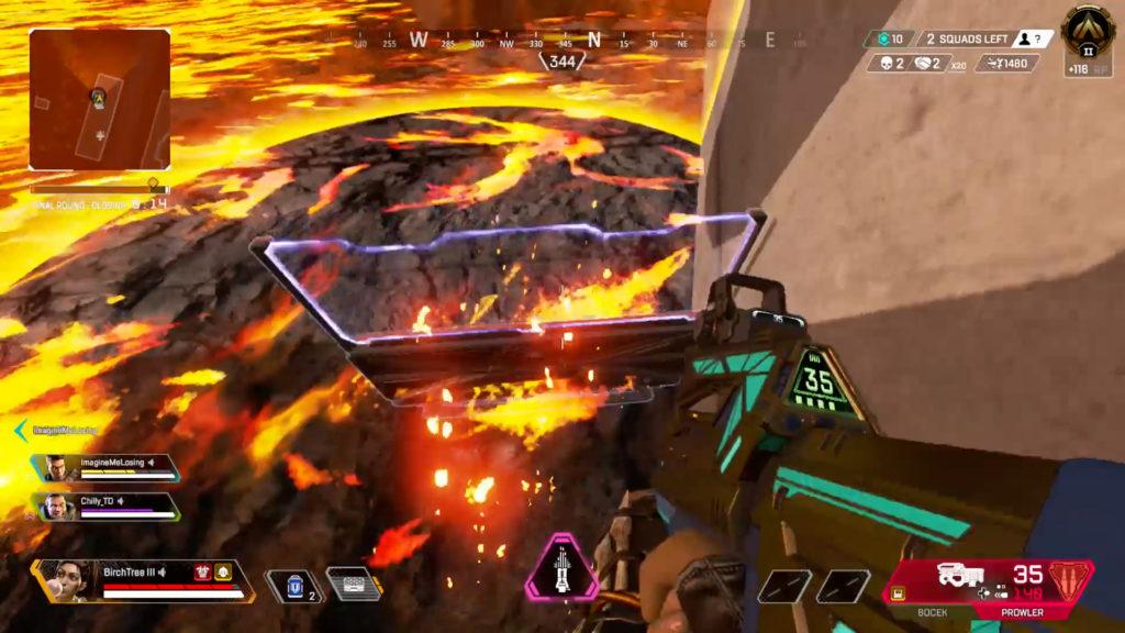 【APEX】ランパートの増幅バリケードを足場にしてチャンピオンを獲得する部隊