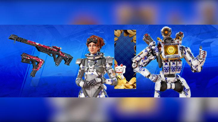 【APEX】今後登場する「PlayStation Plus」の特典アイテムの見た目がリーク!!【ホライゾン・パスファインダーなど】